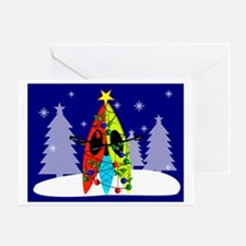 Kayaking Christmas Card Gails Greeting Card