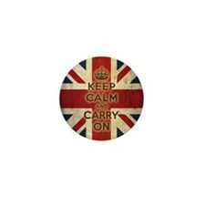 Vintage Keep Calm Mini Button
