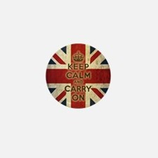 Vintage Keep Calm Mini Button
