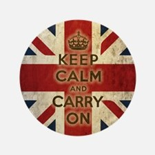 "Vintage Keep Calm 3.5"" Button"