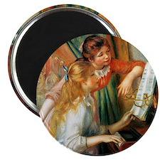 Renoir Girls At The Piano Magnet