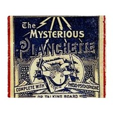 Vintage Ouija Mystery planchette Ad Throw Blanket