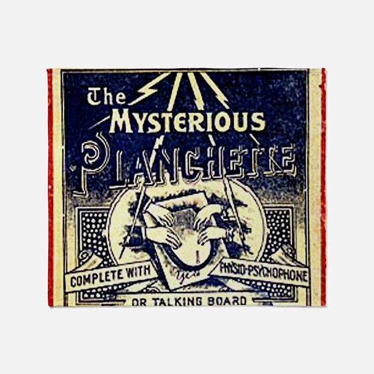Vintage Ouija Mystery planchette Ad Throw Blanket