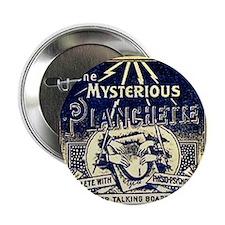 "Vintage Ouija Mystery planchette Ad 2.25"" Button"