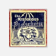 "Vintage Ouija Mystery planc Square Sticker 3"" x 3"""