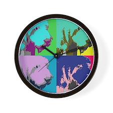 Spinone a la Warhol Wall Clock