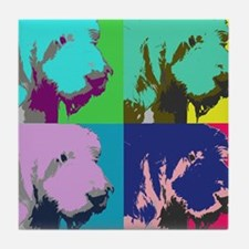 Spinone a la Warhol Tile Coaster