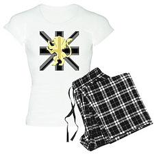 Black Union Jack Lion Rampa Pajamas