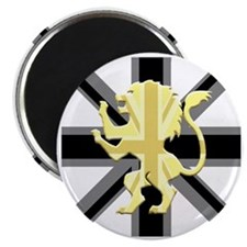 Black Union Jack Lion Rampant Magnet