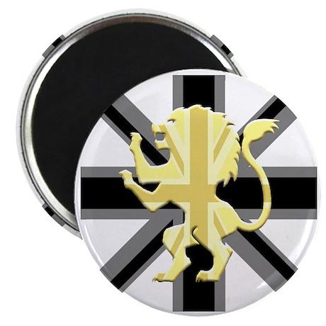 Black Union Jack Lion Rampant Magnet