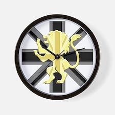 Black Union Jack Lion Rampant Wall Clock