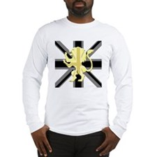 Black Union Jack Lion Rampant Long Sleeve T-Shirt