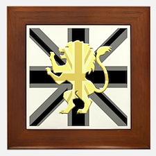 Black Union Jack Lion Rampant Framed Tile
