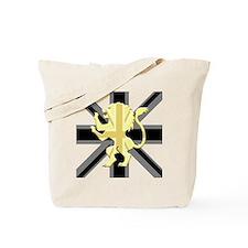 Black Union Jack Lion Rampant Tote Bag