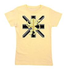 Black Union Jack Lion Rampant Girl's Tee
