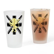 Black Union Jack Lion Rampant Drinking Glass