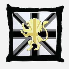 Black Union Jack Lion Rampant Throw Pillow