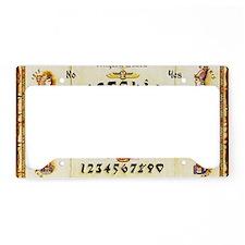 Vintage Egyptian Ouija Board License Plate Holder