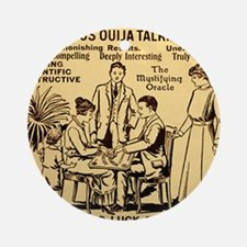 Vintage ouija talking board Ad Round Ornament