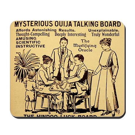 Vintage ouija talking board Ad Mousepad