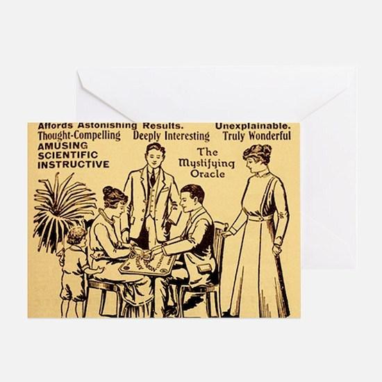 Vintage ouija talking board Ad Greeting Card