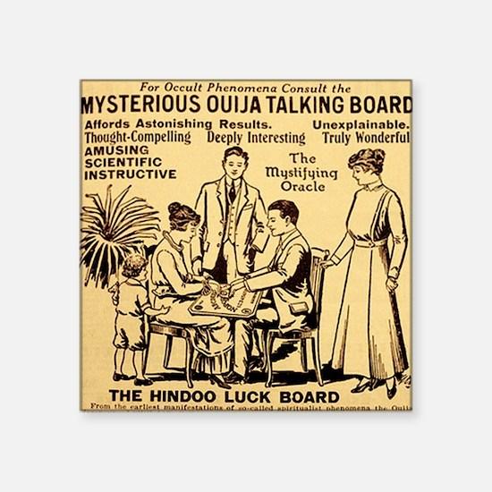 "Vintage ouija talking board Square Sticker 3"" x 3"""