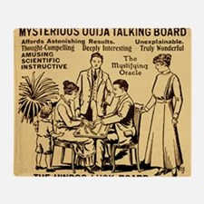 Vintage ouija talking board Ad Throw Blanket