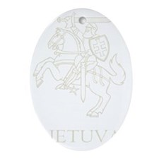 Retro Lithuania Oval Ornament
