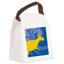 Kangaroo Round Ornament Canvas Lunch Bag