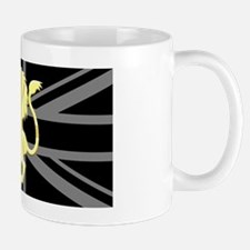 Union Jack Lion Rampant Black Mug