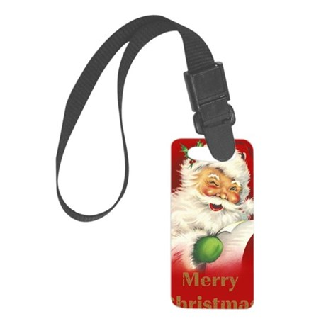 sv_greeting_card_192_V_F Small Luggage Tag