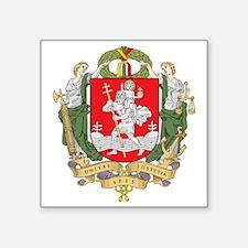 """Vilnius Coat Of Arms Square Sticker 3"""" x 3"""""""