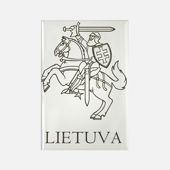 Lithuania Rectangle Magnet
