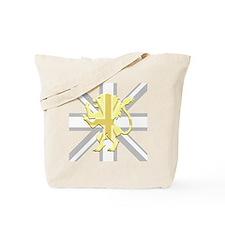 White Union Jack Lion Rampant Tote Bag