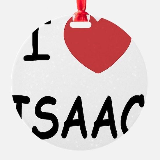 I heart ISAAC Ornament
