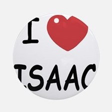 I heart ISAAC Round Ornament