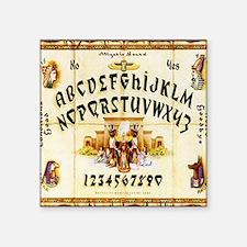 "Vintage Egyptian Ouija Boar Square Sticker 3"" x 3"""