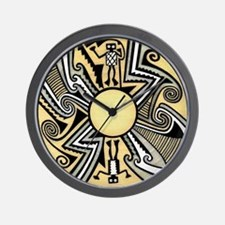 MIMBRES ALIEN BOWL DESIGN Wall Clock