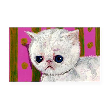 Sad Allergic cat Rectangle Car Magnet