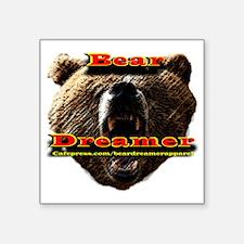 "Bear Dreamer Apparel Square Sticker 3"" x 3"""