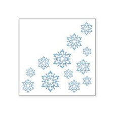 "ICY BLUE SNOWFLAKES Square Sticker 3"" x 3"""