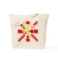 Red Union Jack Lion Rampant Tote Bag