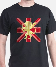 Red Union Jack Lion Rampant T-Shirt