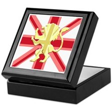 Red Union Jack Lion Rampant Keepsake Box