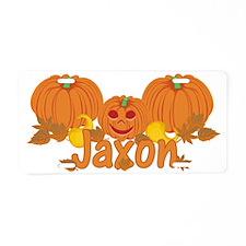 Halloween Pumpkin Jaxon Aluminum License Plate