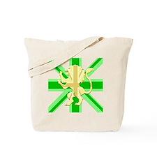 Green Union Jack Lion Rampant Tote Bag