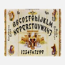 Vintage Egyptian Ouija Board Throw Blanket