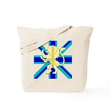 Blue Union Jack Lion Rampant Tote Bag