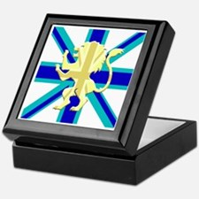 Blue Union Jack Lion Rampant Keepsake Box