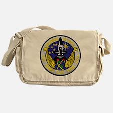 uss henry clay patch transparent Messenger Bag
